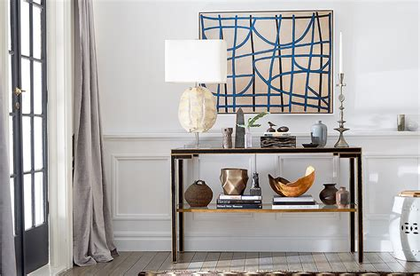 step  step guide  decorating  console table