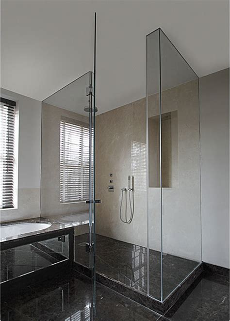 Glass Shower Enclosure Kits by Fully Frameless Glass Shower Enclosure Contemporary