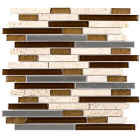 Elida Tile Home Depot by Elida Ceramica Metal Horizons Linear Mosaic Glass Metal