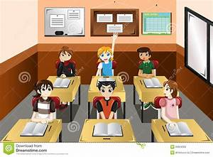 Kids in classroom stock vector. Illustration of classroom ...