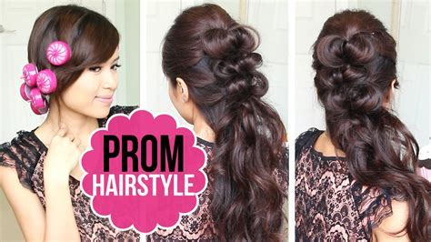 Easy Prom Hairstyle   Half Updo Hair Tutorial   YouTube