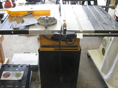 rockwell model 9 table saw rockwell 10 quot motorized table saw on stand model 34 345