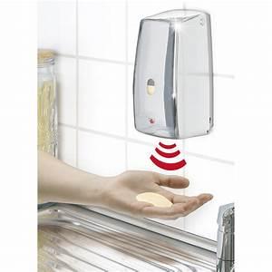 Distributeur De Savon Mural Automatique : distributeur de savon infrarouge senso matic chrome ~ Edinachiropracticcenter.com Idées de Décoration