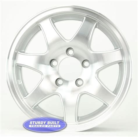 Boat Trailer Wheel Pattern by 15 Inch Aluminum 7 Spoke 5 Bolt Pattern Boat Or Enclosed