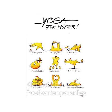 gaymann postkarte yoga fuer muetter