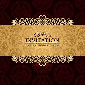 Abstract background with antique, vintage frame and banner ...