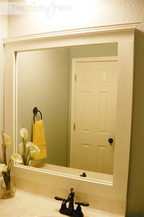 diy framed bathroom mirror the accent