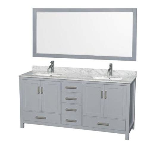 70 inch bathroom vanity without top wyndham collection wcs141472dgycmunsm70 sheffield 72 inch
