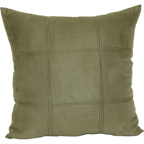 throw pillows at walmart mainstays leaf green suede decorative pillow green