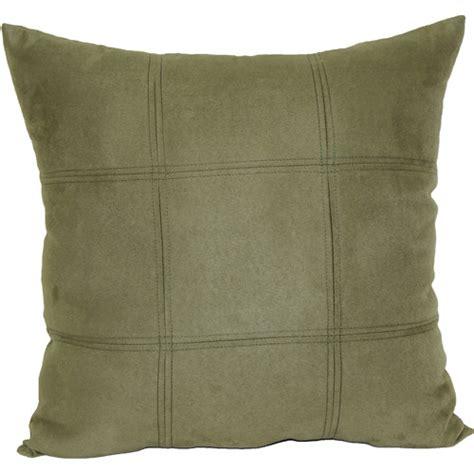 decorative pillows walmart mainstays leaf green suede decorative pillow green