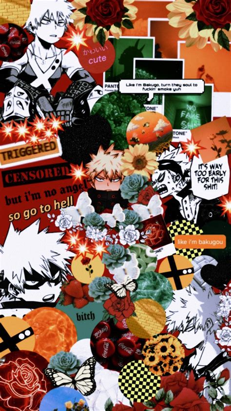 bakugou aesthetic wallpaper in 2020 anime wallpaper
