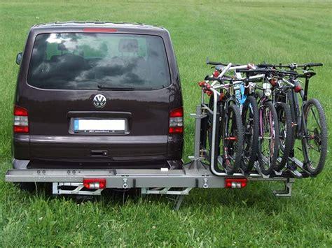 fahrradträger vw t5 fahrradtr 228 ger f 252 r cingbusse und kastenwagen