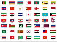 Asia Flags printable flags