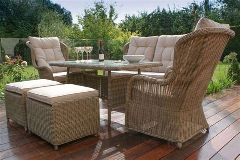 High Back Dining Settee by Winchester Garden Furniture Rattan High Back Sofa Dining
