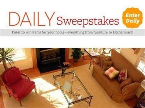 homes  gardens daily sweepstakes win todays prize