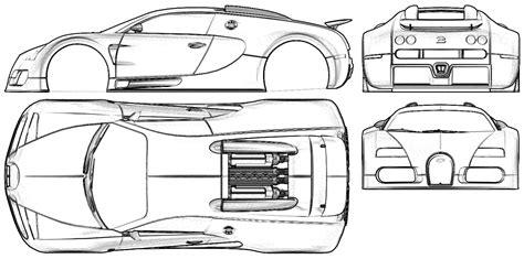 Bugatti Veyron Blueprint by Blueprint Bugatti 16 4 Veyron