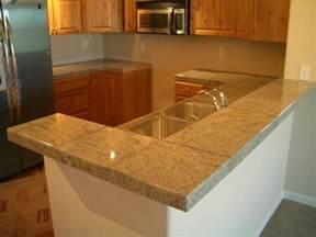 kitchen counter tile ideas granite tile kitchen countertop and bar