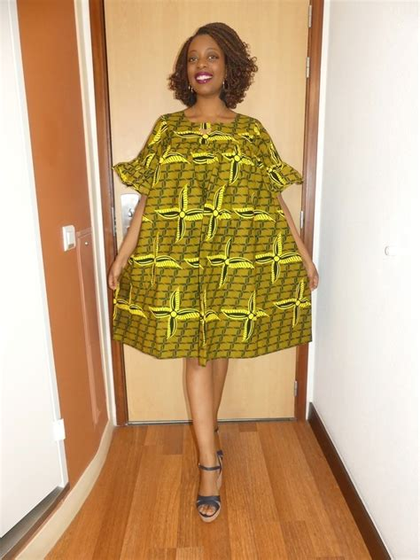 Robe Pagne Africain Robe Le Manches Courtes En Wax Pagne Africain Par Pagnshopea R Afrikrea