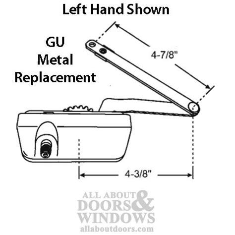 discontinued   casement operator metal base split arm lh white