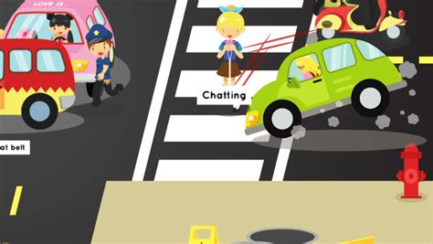 Cartoon Road Stock Video Footage