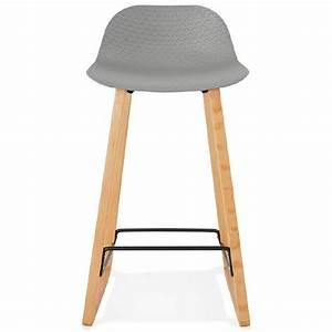 Tabouret Mi Hauteur : tabouret de bar chaise de bar mi hauteur scandinave scarlett mini gris clair ~ Teatrodelosmanantiales.com Idées de Décoration
