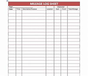 30 printable mileage log templates free template lab for Mileage calendar template