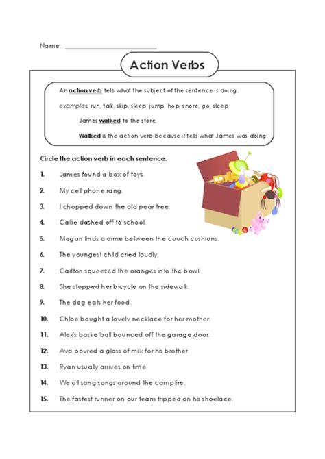 verb worksheet for 2nd grade verbs worksheets