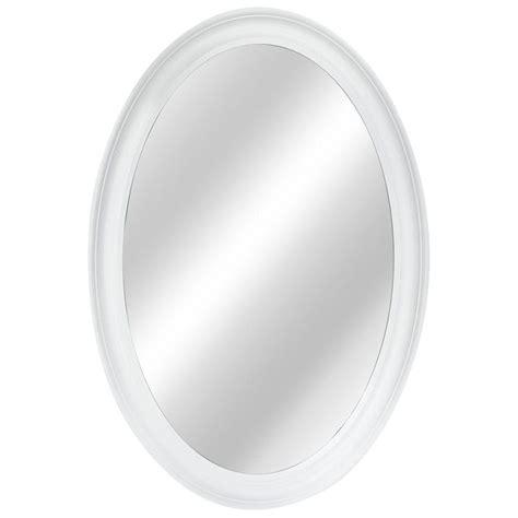 White Framed Oval Bathroom Mirror by 15 White Oval Wall Mirror Mirror Ideas