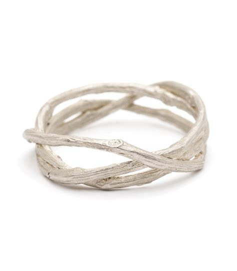 s wedding bands woven branches wedding band