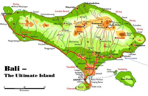 landkaart van indonesie en bali vakantielandennet