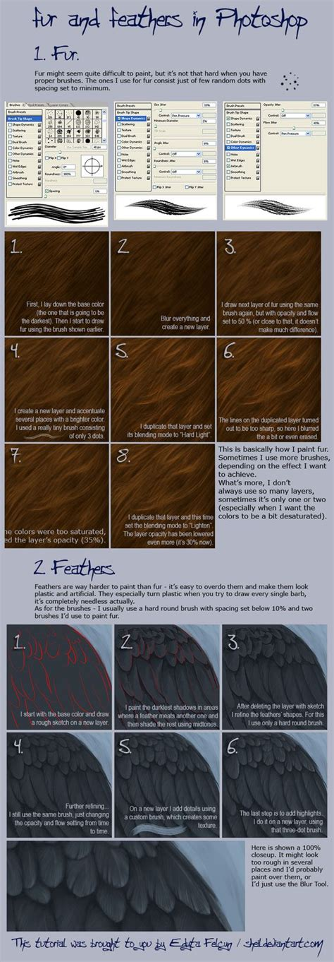 photoshop digital painting tutorial how to create fur and the world s catalog of ideas