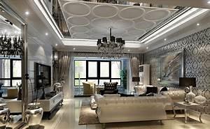 Living room interior design post modern style