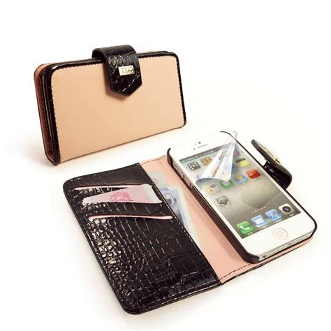 tlc genuine leather croc purse cover for iphone