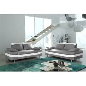 Canapé 2 Places Simili Cuir Gris by Modern Sofa Canap 233 Bacau 3 2 Gris Clair Simili Cuir