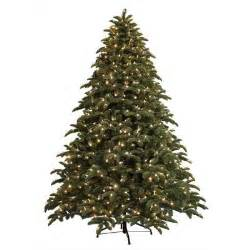 ge 7 5 ft just cut noble fir ez light artificial christmas tree with 800 color choice led lights
