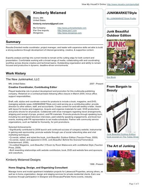 Visual Merchandiser Resume by Retail Visual Merchandiser Resume Sle Images