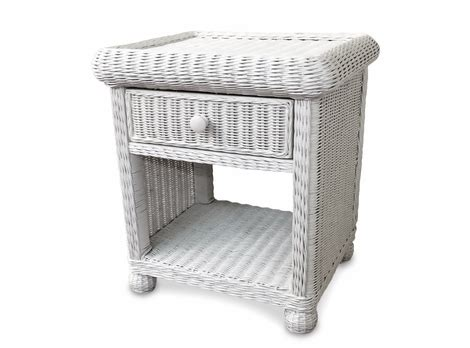 Wicker Nightstand White by Wicker Nightstands Rattan Tables