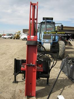 shaver hydraulic post driver   point hitch  tractors