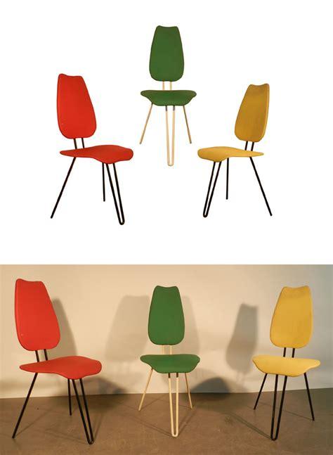 chaises originales trois originales chaises 1950 chaises tabourets