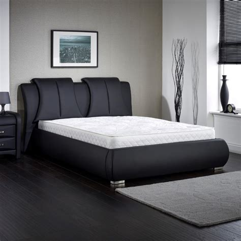 azure black double bed double bed frames furn