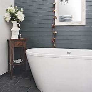 modern bathroom with grey panelling decorating With grey painted bathrooms