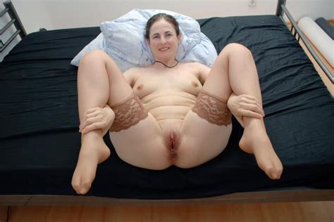 Wife Posing Bed Couch