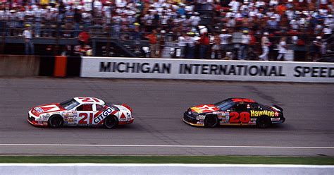 flashback friday dale jarrett wins  race  michigan