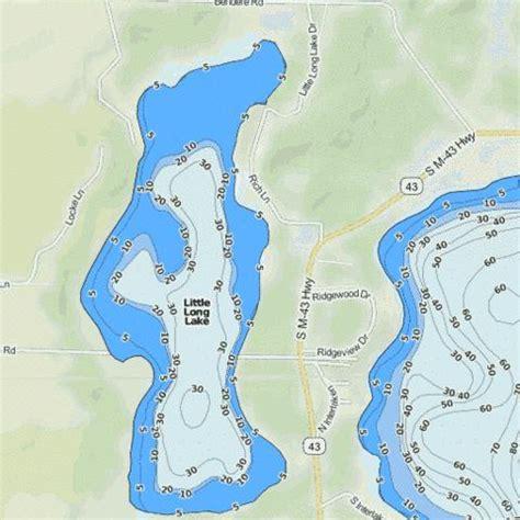 Hale, a small community within plainfield township, iosco county, michigan; Little Long Lake (Fishing Map : US_MI_8_242)   Nautical ...