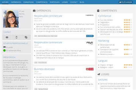 creer un cv moderne 3 outils en ligne pour cr 233 er un joli cv reso le