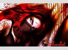 Wallpaper look, girl, blood, the game, mask, art, green