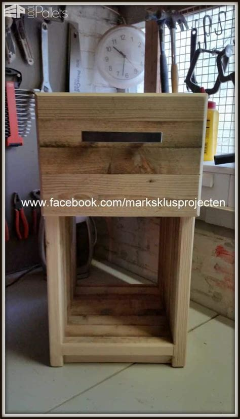 Pallet Bedside Table ? 1001 Pallets