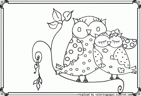 Free Printable Coloring Pages Of Owls
