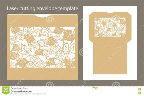 Laser Cut L Template by Vector Envelope Template For Laser Cutting Stock Vector