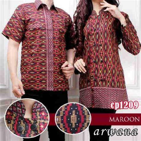 batik arwana maroon cp1209 baju muslim modern
